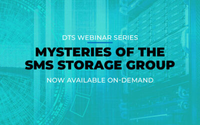 DTS Webinar: Mysteries of the SMS Storage Group