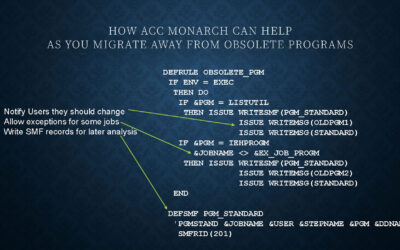 USE CASE: How ACC Monarch Can Help As You Migrate Away From Obsolete Programs